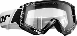 Thor MX Motocross YOUTH Combat Goggles (Black/White) Youth