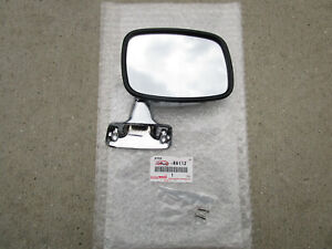 FITS: 79 - 83 TOYOTA HILUX FRONT RIGHT SIDE DOOR MIRROR CHROME OEM BRAND NEW