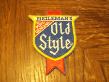 VINTAGE HEILEMAN'S PURE GENUINE OLD STYLE BEER PATCH   (PUT ON )  SHIRT  HAT