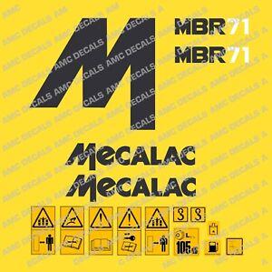 MECALAC MBR71 ROLLER DECALS STICKER SET