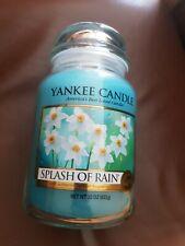 YANKEE CANDLE LARGE JAR SPLASH OF RAIN  htf