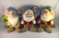 "Vintage Disney Store Standing Stuffed Plush 11"" Snow White Seven Dwarfs. Rare!!"