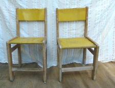 Lot de 2 chaises scolaires vintage