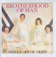 "BROTHERHOOD OF MAN Vinyl 45T 7"" MIDDLE OF THE NIGHT - PYE 183 F Rèduit RARE"
