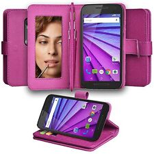 NEW Moto G 3rd Gen. [Rflection] Abacus24-7 Mirror Wallet Case & Holder