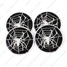 4PCS 56mm Spider Web Aluminum Car Auto Wheel Center Hub Cap Emblems Stickers