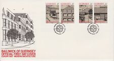 Unaddressed Guernsey FDC Cover 1987 Europa Modern Architecture 10% off 5