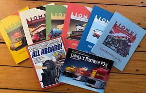 Lionel Collectors Guide & History 6 Volume Set McComas Touhy + 2 BONUS BOOKS