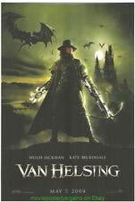 Van Helsing Movie Poster Original Ds 27x40 Hugh Jackman 2004 Horror Film