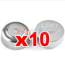 Batería a ALCALINE 10 botón 1,5 V LR41 AG3 LR736 392 LR192 x relojes ie