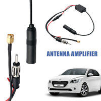 Universal Car Signal Antenna Amplifier Booster Stereo Radio Inline Aerial Cable