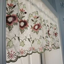 Embroidery flower Home decorate Kitchen Lace Sheer hollow Cafe Curtain 16032902