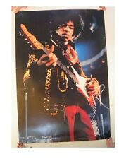 Jimi Hendrix Poster Live Playing Guitar Commercial