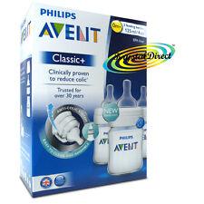Philips AVENT SCF560/37 Classic+ Feeding Bottles 3 Pack Anti Colic BPA Free 0m+