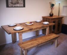 dining table in natural solid eco wood Handmade in UK , extendable, CUSTOM SIZES