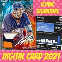 Topps NHL Skate ryan Pulock fire and ice iconic signature relic 2021 digital