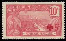 """GUADELOUPE B1 (Mi72) - Colonial Red Cross Fund """"Basse-Terre Harbour"""" (pf70490)"""