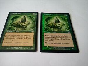 Erhnam Djinn FOIL Green Creature Uncommon Magic MTG Judgment x2 1 non