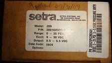 Setra Systems Model 209 Pressure Transducer NIB