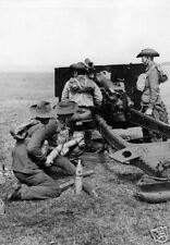 WW2  Photo Australian Troops Artillery Australia WWII World War Two 25 Pounder