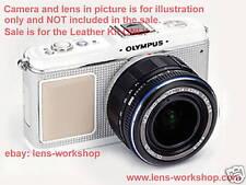 Olympus E-P1 E-P2 Camera Leather Skin - Diamond Silver