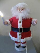 "#6 MOTIONETTE ANIMATED CHRISTMAS SANTA CLAUS light up decor VINTAGE moving 24"""
