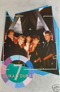 """DURAN DURAN """"SEVEN & THE RAGGED TIGER"""" U.K. COMMERCIAL POSTER - 80's New Wave"""