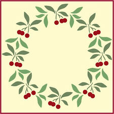 CHERRY WREATH STENCIL - FLOWER STENCILS - FOLK ART - The Artful Stencil