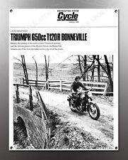 VINTAGE TRIUMPH 650cc T120R BONNEVILLE IMAGE BANNER NOS IMAGE REPRODUCTION