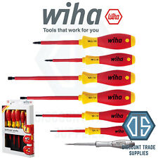 Wiha 00834 7Piece VDE 1000v Slotted/Phillips Softfinish Screwdriver Set PH1 PH2