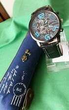 Mens Watch with Printed Circuit Design on the face comes with storage zipper bag