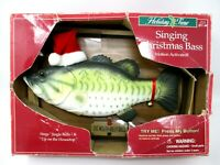 Big Mouth Billy Bass Gemmy Christmas Animated Vintage 1999 partially works