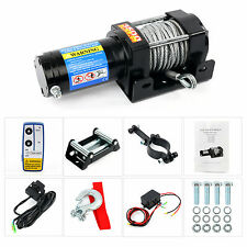 3500lb Remote Electric Steel Cable Winch Kit 12V ATV Tow Boat Truck Trailer NEW