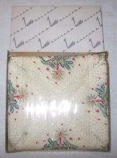 Vintage Crepe Paper Napkins New In Box Christmas Candles Swan Germany