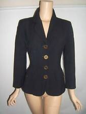 MOSCHINO 8 YOU CANT JUDGE A GIRL  Navy Blue SEXY Vintage Womens Jacket Blazer
