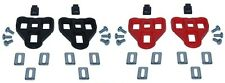PAIR PEDAL CLEATS COMPATIBLE LOOK DELTA ROAD BIKE RED 9° BLACK 0° ROTO CYCLE