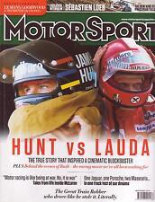 Motorsport magazine Sept 2013 Hunt vs Lauda featured in RUSH movie!