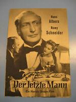 Romy Schneider.Der letzte Mann IFB Filmprogramm 1950.Jahre.Nr.-Movie program