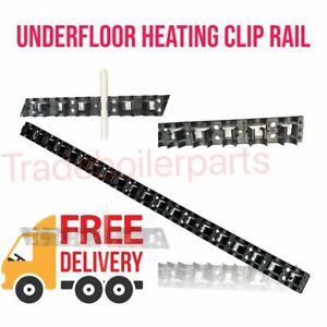 Underfloor Heating Clip Rail x 1m Self Adhesive Tape UFH Cliprail Water UFH NEW