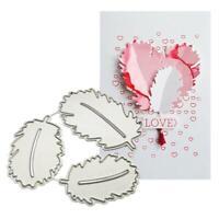 Feather Metal Cutting Dies Stencil Scrapbooking DIY Album Stamp Paper Emboss