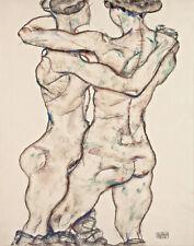 Schiele Egon Two Nude Women Canvas 16 x 20   #6747