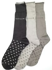 $45 Perry Ellis New Mens 3 Pair Pack Crew Dress Socks Brown Beige Shoe Size 7-12