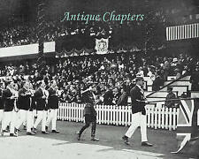 Antwerp Olympic Games Opening Swedish Gymnasts British Team 1920 Photo Article