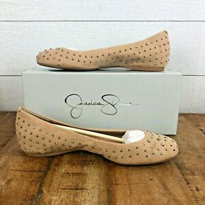 JESSICA SIMPSON JS-MIKIA Flats Microsuede Womens Size 8.5M NIB Cocoa Sand Shoe