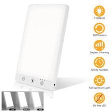 Tageslichtlampe Lichttherapie Lichttherapielampe Dimmbar LED Lampe 11000 LUX