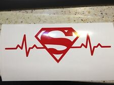 Superman Heartbeat Logo Vinyl Decal Sticker Window Truck Jeep Suv