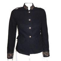 BANANA REPUBLIC HERITAGE British Blazer Lion Crest Button Jacket size 2 /2797