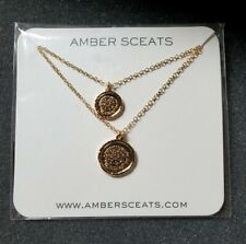 Amber Sceats Australia Double Coin Gold Tone Layered Necklace - New in Package