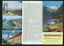 Oberösterreich Salzkammergut  Pyhrnbahngebiet Mühlviertel Panoramakarte 1960