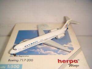 "Herpa Wings 500 Olympic Airways B717-200 ""2000s color - Andromeda 1:500 NG"